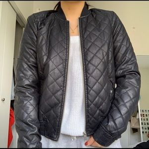 Black Leather Jacket (faux)